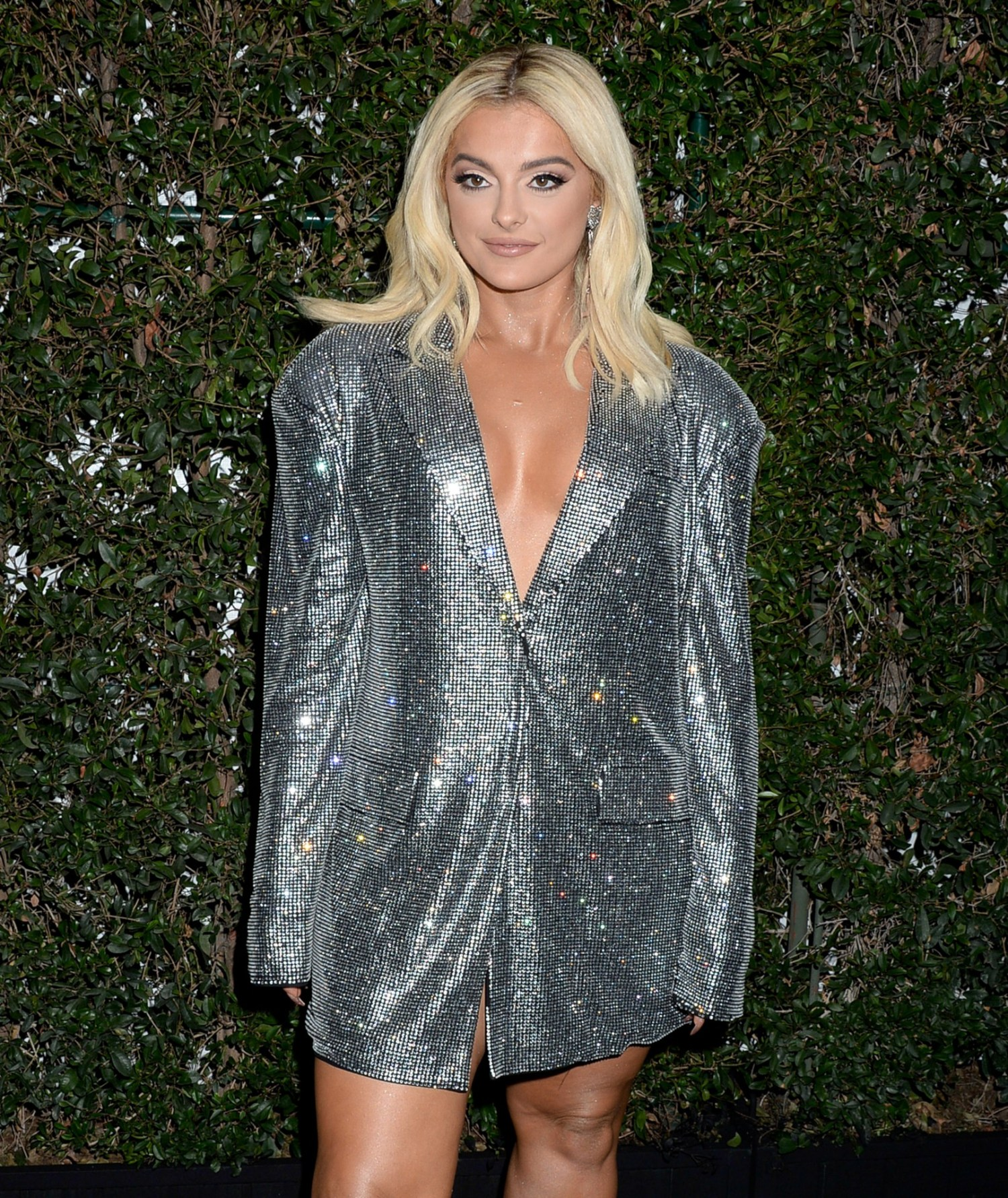 """Bebe Rexha - Sexy Braless Cleavage at Spotify """"Best New Artist"""" Party in Los Angeles - Hot ..."""