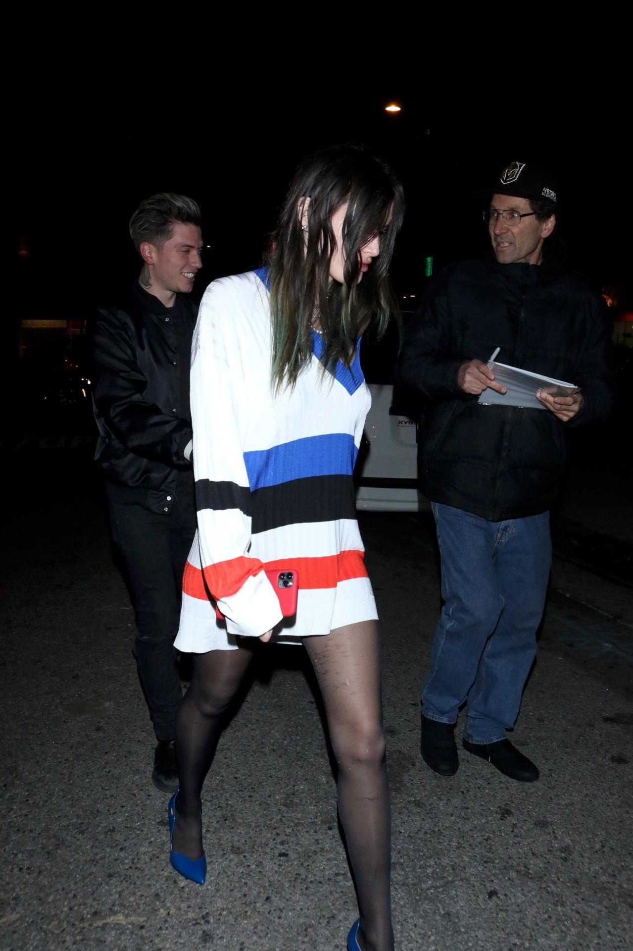 Bella Thorne Sexy Black Stockings