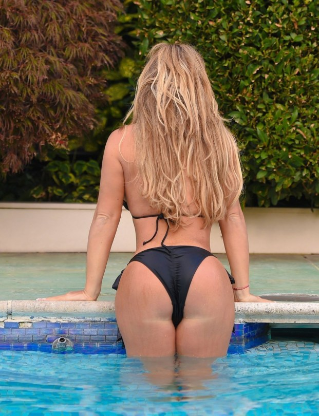 Bianca Gascoigne Black Bikini