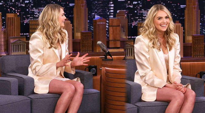 "Kate Upton – Sexy Legs and Boobs on ""The Tonight Show Starring Jimmy Fallon"" in New York"