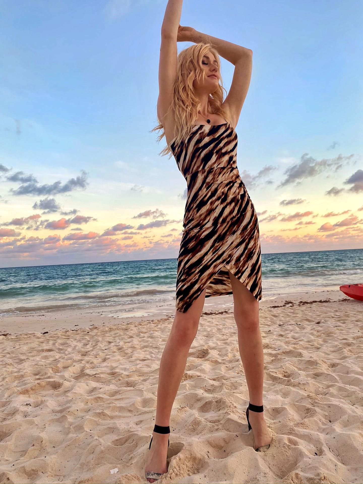 Katherine Mcnamara Sexy On Beach