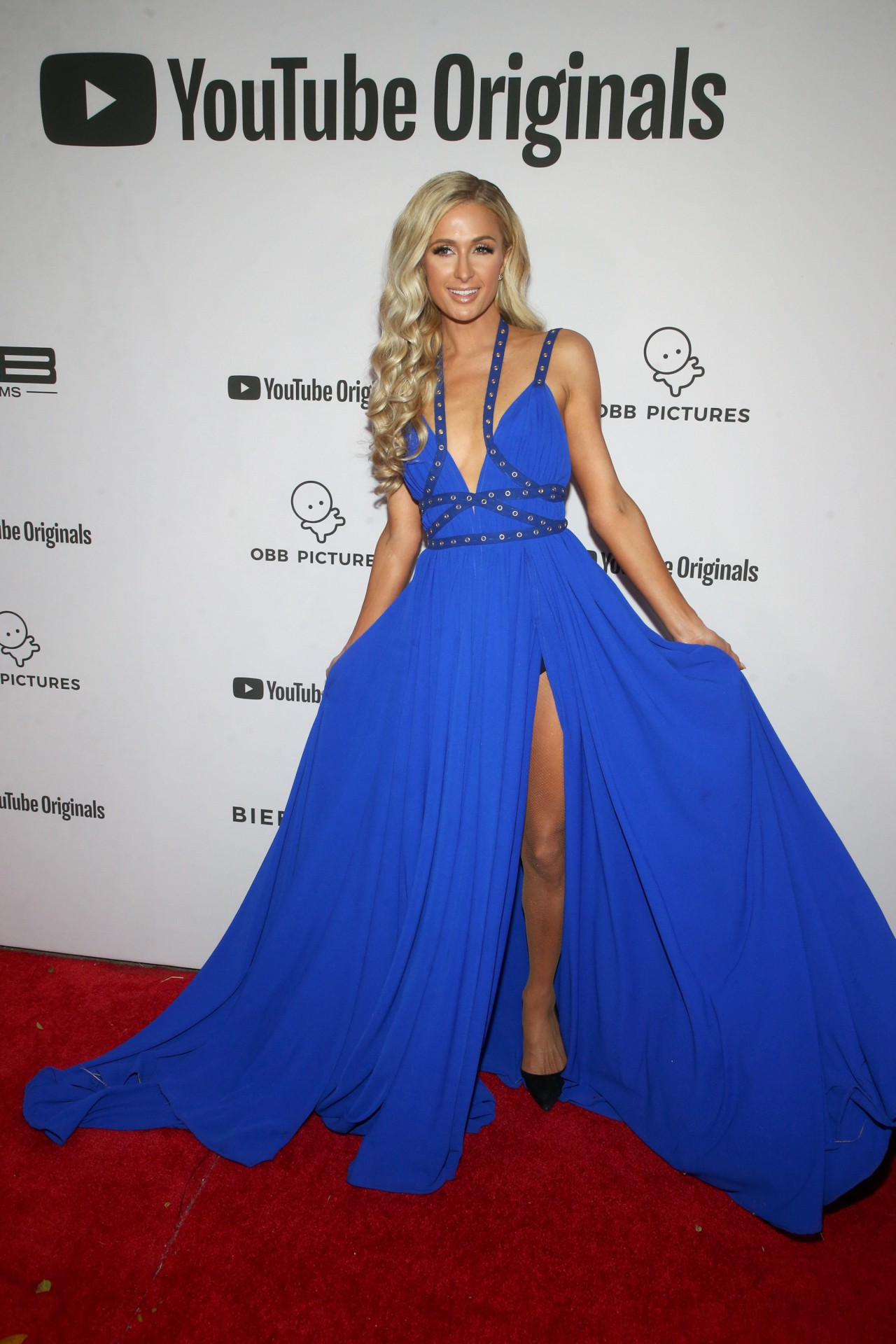 Paris Hilton Sexy Blue Dress