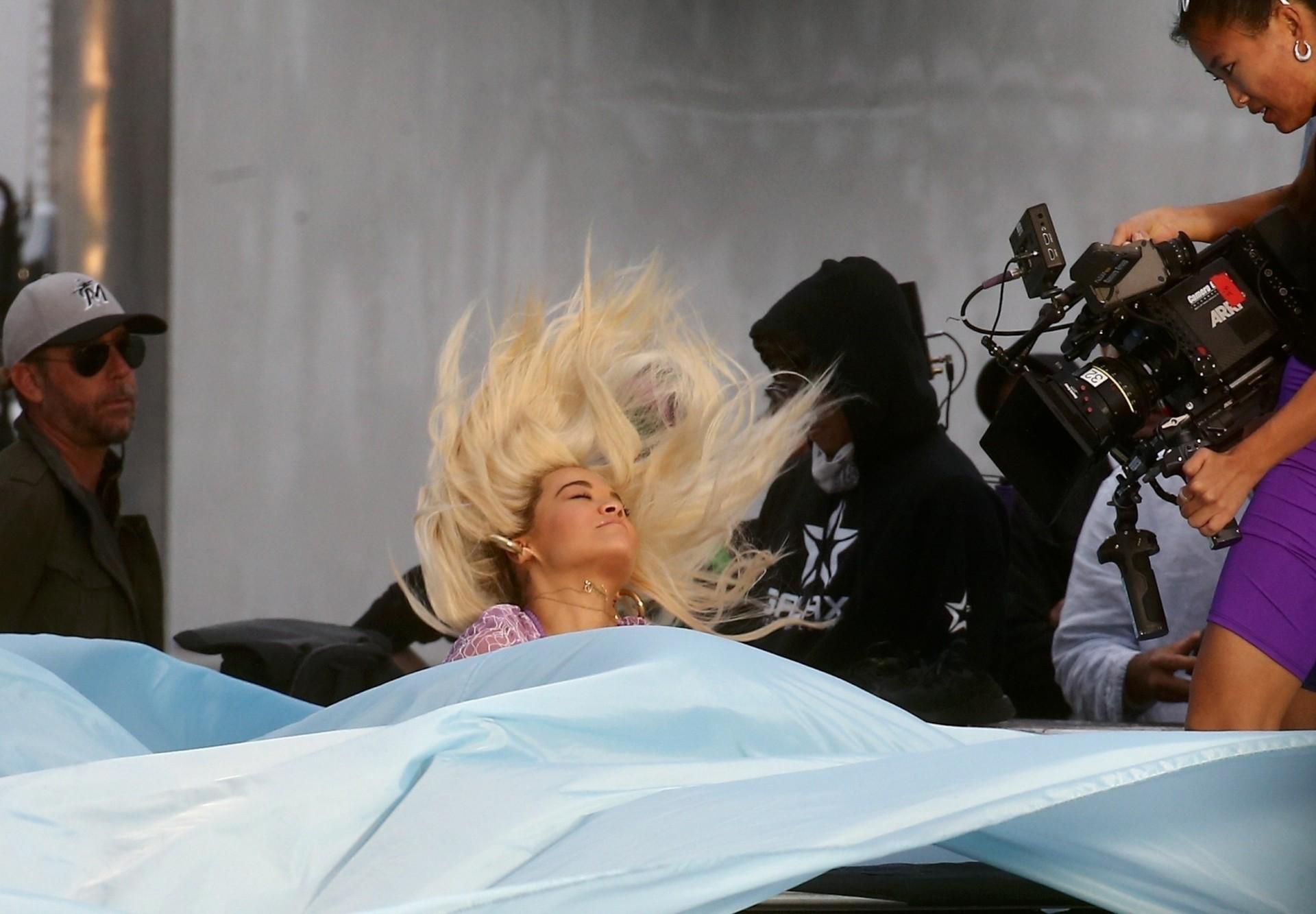 Rita Ora See Through Outfit