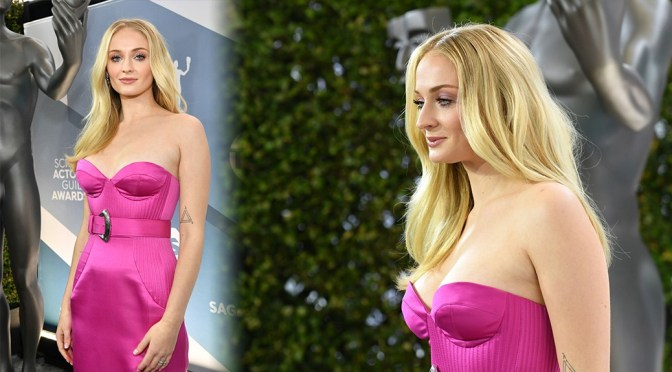 Sophie Turner – Sexy Cleavage at 26th Annual Screen Actors Guild Awards in Los Angeles