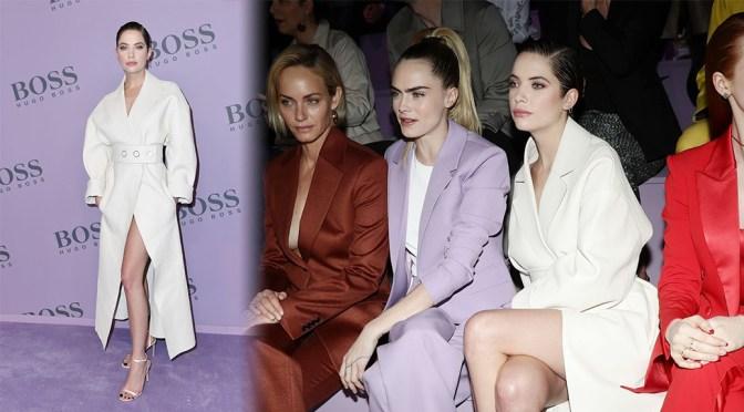Ashley Benson – Beautiful Legs at Boss Fashion Show in Milan