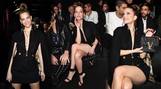 Barbara Palvin – Sexy Legs at Versace Fashion Show in Milan