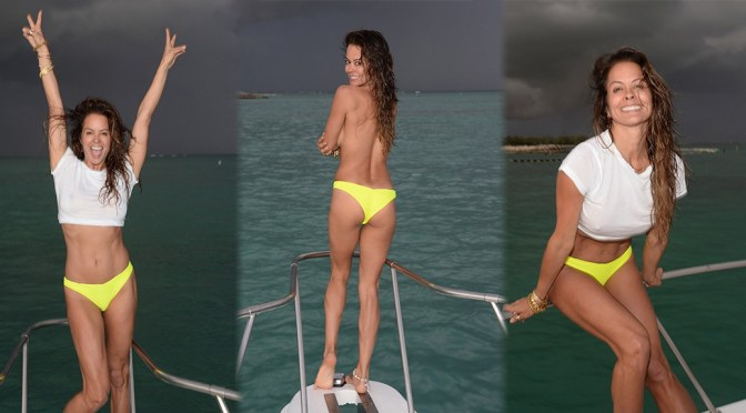Brooke Burke – Braless Photoshoot on a Yacht in Dominican Republic