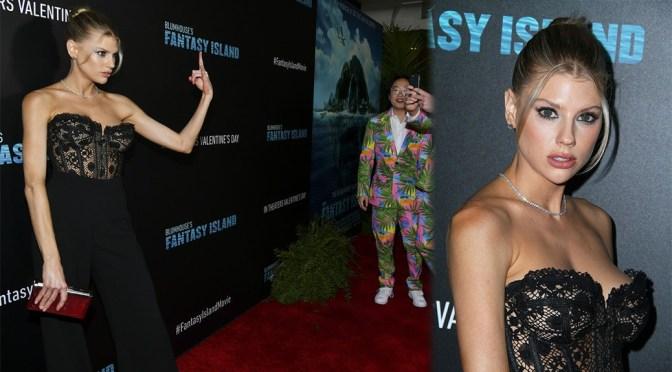 "Charlotte McKinney – Big Boobs in Sexy CLeavage at ""Blumhouse's Fantasy Island"" Premiere in Century City"