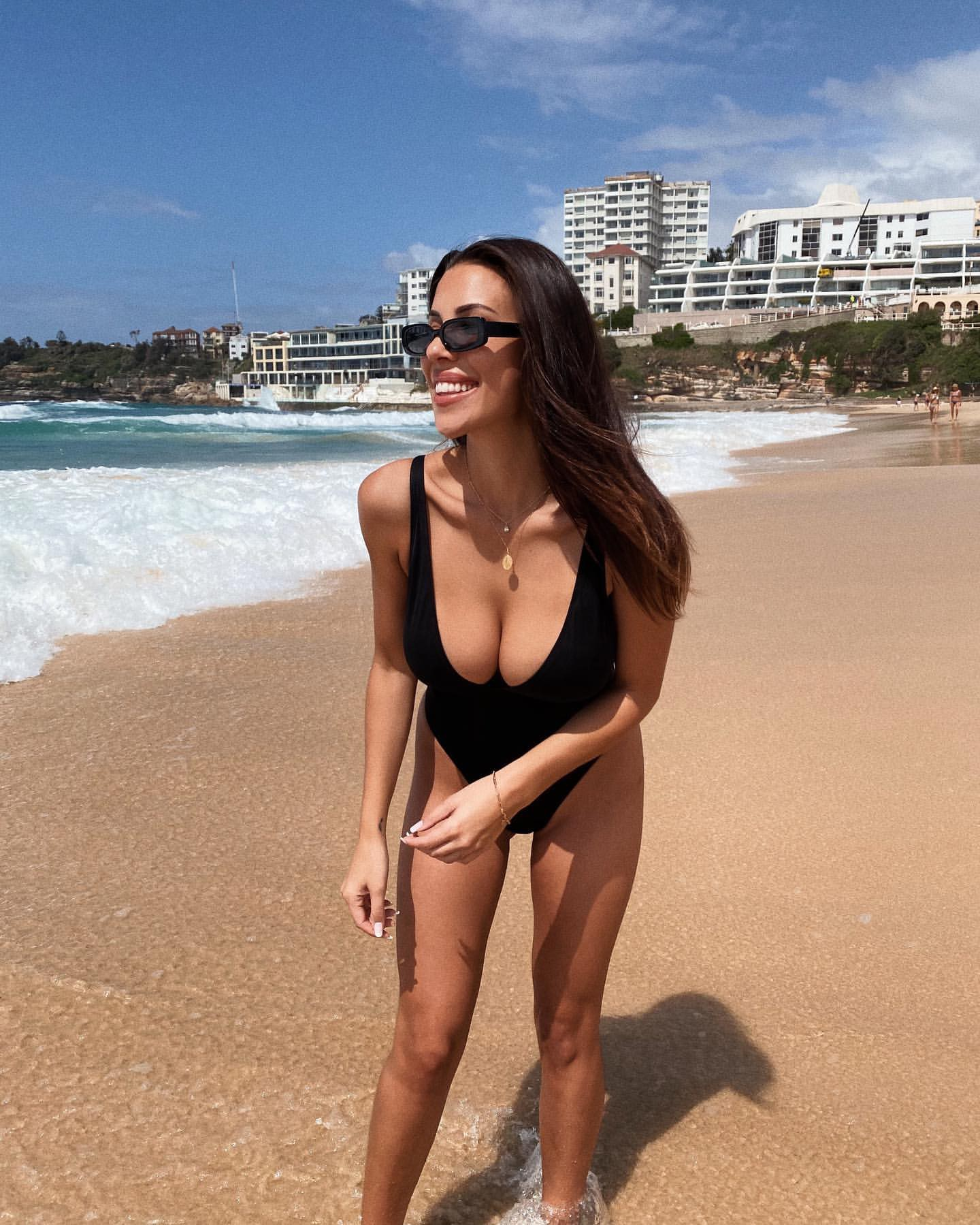 Devin Brugman Sexy Boobs In Sexy Swimsuit
