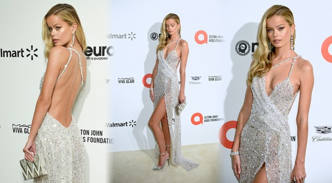 Frida Aasen – Big Cleavage and Sexy Legs at Elton John AIDS Foundation Oscar Viewing Party in Los Angeles