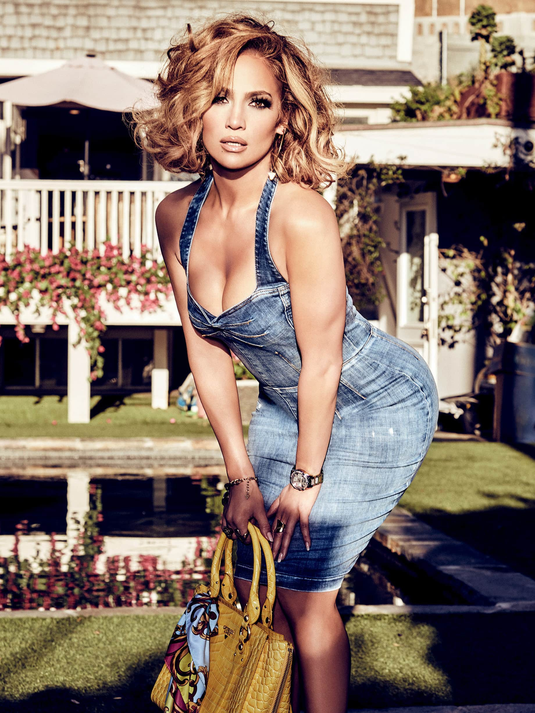 Jennifer Lopez - Sexy Ass and Boobs in Guess Girl Spring 2020 Campaign - Hot Celebs Home