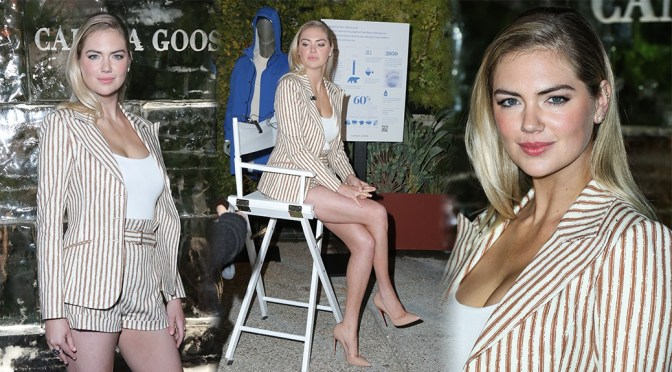 Kate Upton – Sexy Legs and Cleavage at Cocktails & Conversation About Future of Polar Bears in Los Angeles