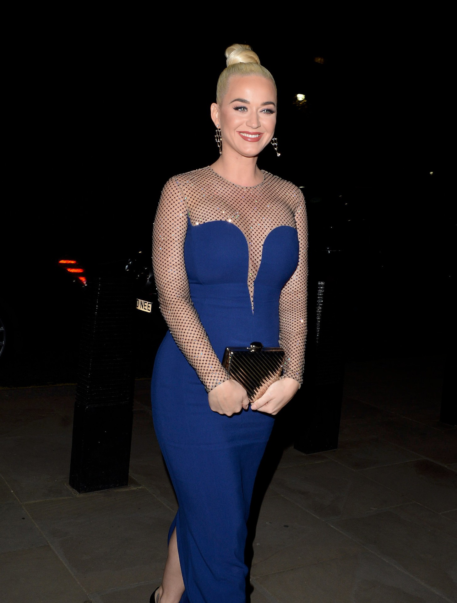 Katy Perry Sexy Blue Dress