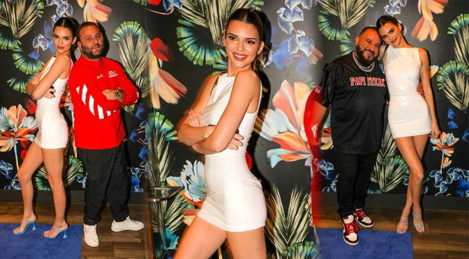 Kendall Jenner – Hot Legs in Sexy Dress at Belvedere Game Over Party in Miami
