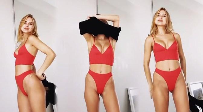 Kimberley Garner Strips Down to Bikini in Sexy Video