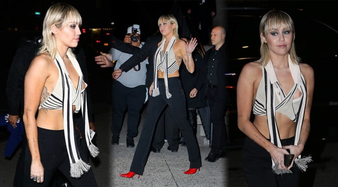 Miley Cyrus – Sexy Nipslip at the Bowery Hotel in New York