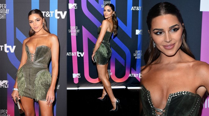 Olivia Culpo – Sexy Legs and Boobs at AT&T Super Saturday Night in Miami