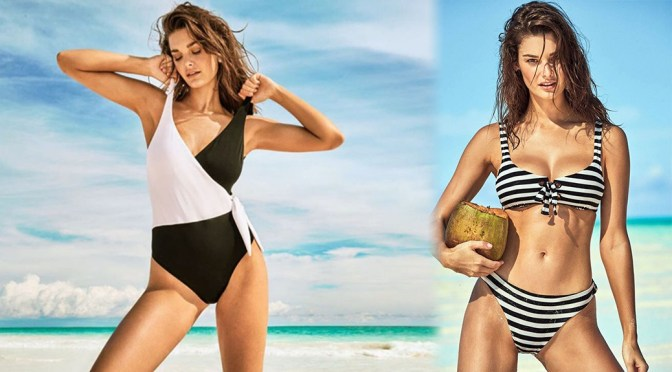Ophelie Guillermand – Sexy Boobs in Calzedonia Swimwear Summer 2019 Campaign