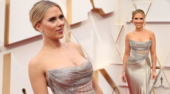 Scarlett Johansson – Sexy Boobs in Big Cleavage at 92nd Annual Academy Awards in Los Angeles