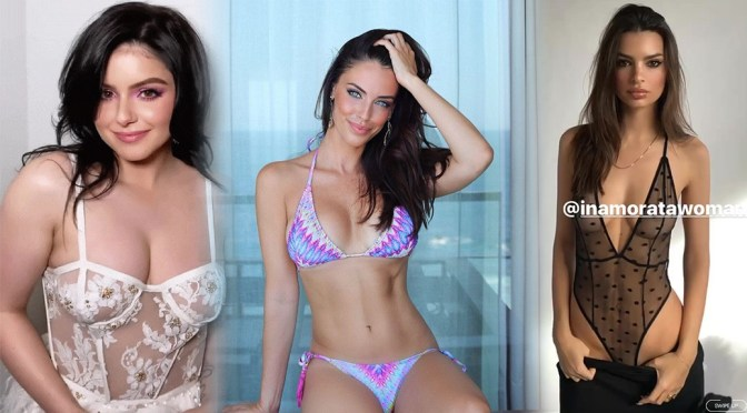 Jessica Lowndes in Sexy Bikini and Other Celebrities in a Weekly Instagram/Twitter Roundup