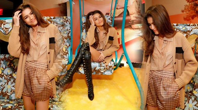 Zendaya Coleman – Sexy Legs in Boots at Solar Dream Launch Hosted by Fendi in New York