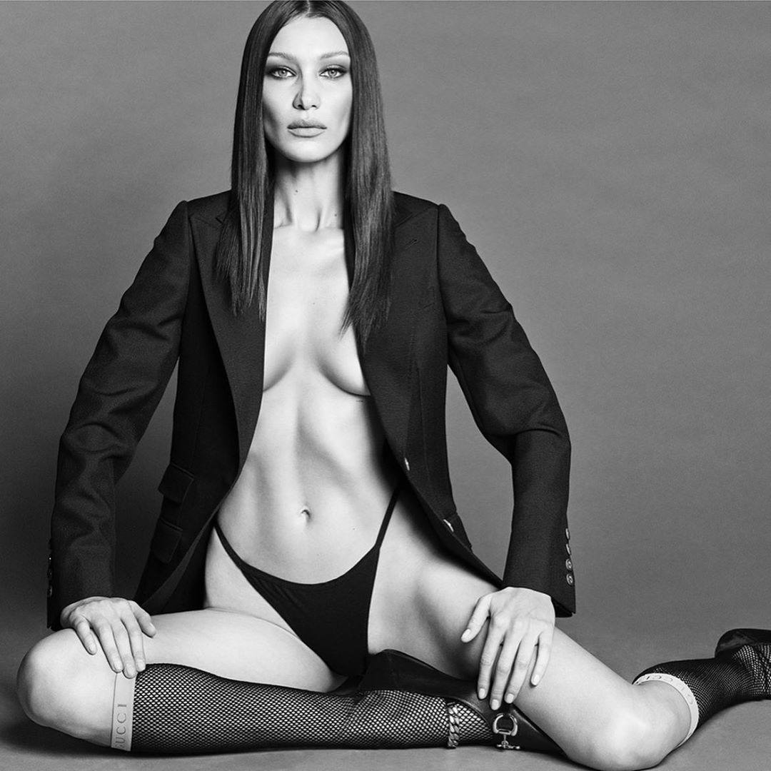 Bella Hadid Braless Photoshoot