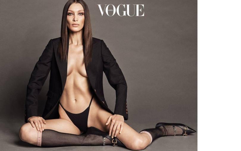 Bella Hadid Sexy Vogue Magazine Pictures