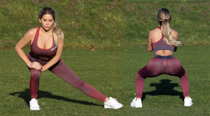Bianca Gascoigne – Sexy Workout at Prestige Bootcamp in Wales