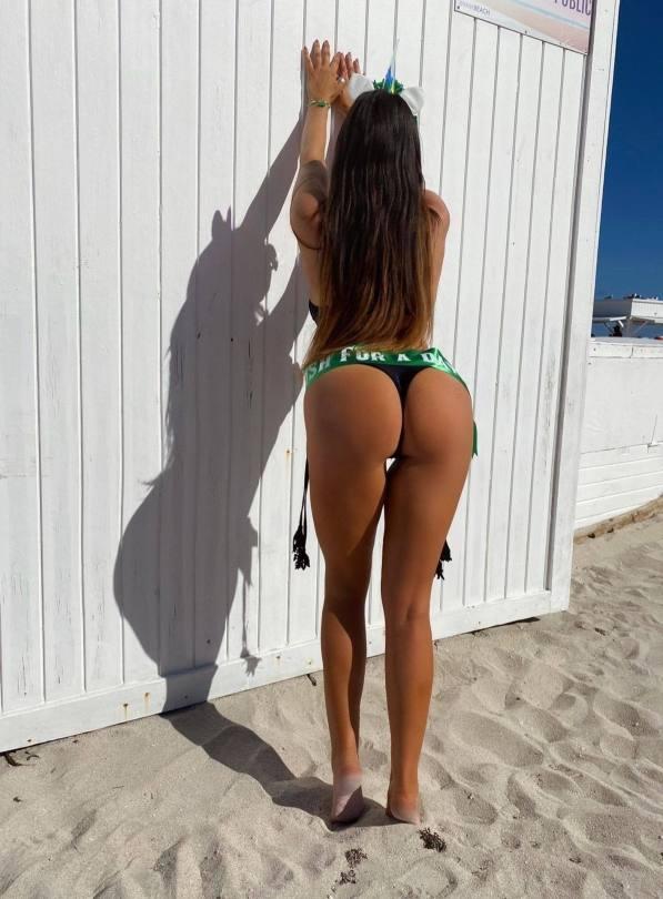 Claudia Romani Boobs And Ass On Beach