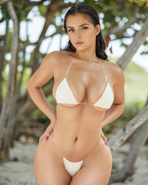 Demi Rose Mawby Huge Boobs In Tiny Bikini