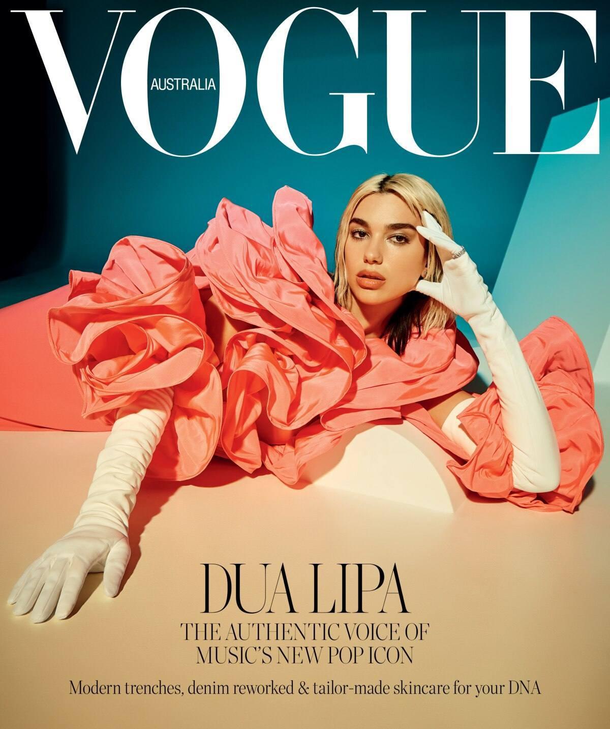 Dua Lipa In Sexy Photoshoot For Vogue Australia April