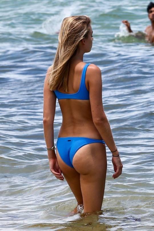 Elizabeth Turner And Danielle Herrington Sexy Bikini On Beach