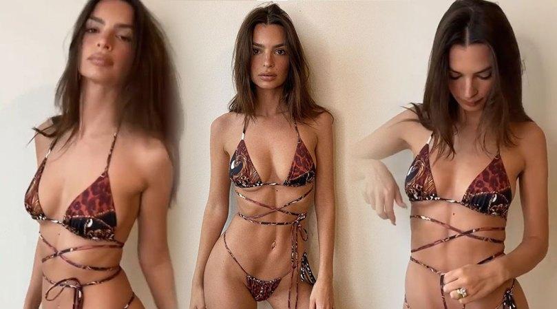 Emily Ratajkowski Hot Body In Tiny Bikini