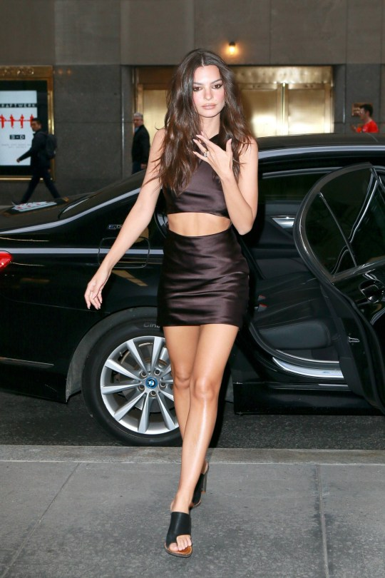 Emily Ratajkowski Hot Mini Skirt