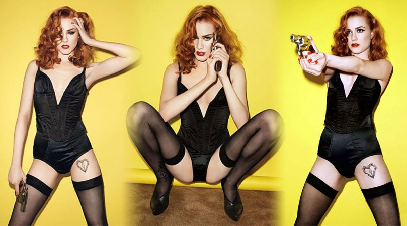 Evan Rachel Wood Sexy Body In Black Lingerie