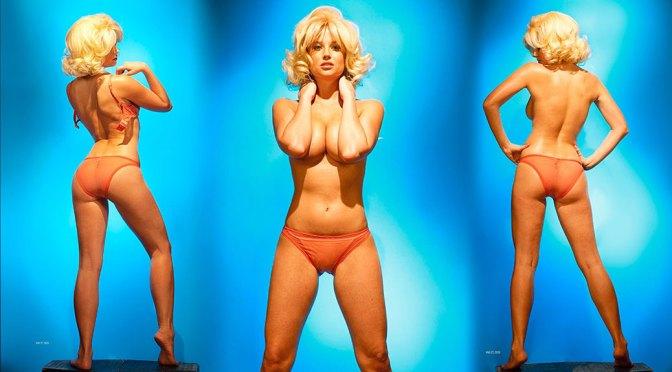 Genevieve Morton – Sexy Boobs in Stripping Photoshoot