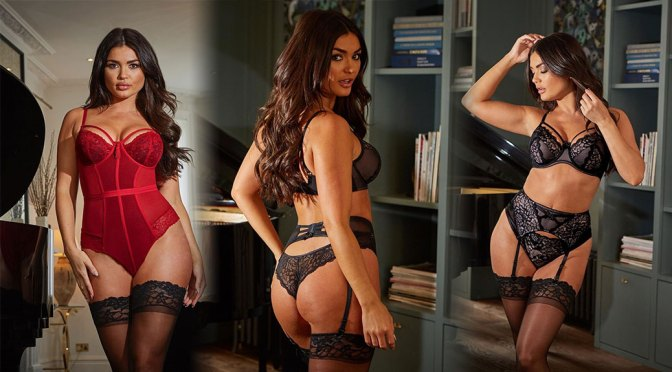 India Reynolds – Sexy Boobs and Ass in Pour Moi Lingerie Photoshoot