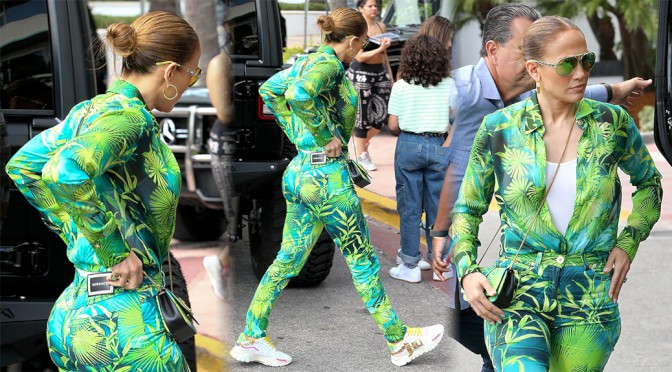 Jennifer Lopez – Sexy Big Ass in Tight Pants Out in Miami