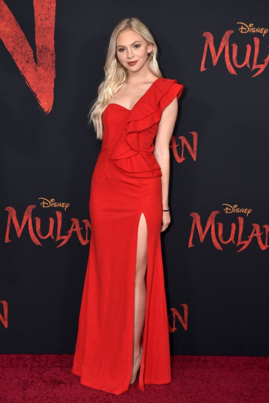 Jordyn Jones Beautiful Red Dress