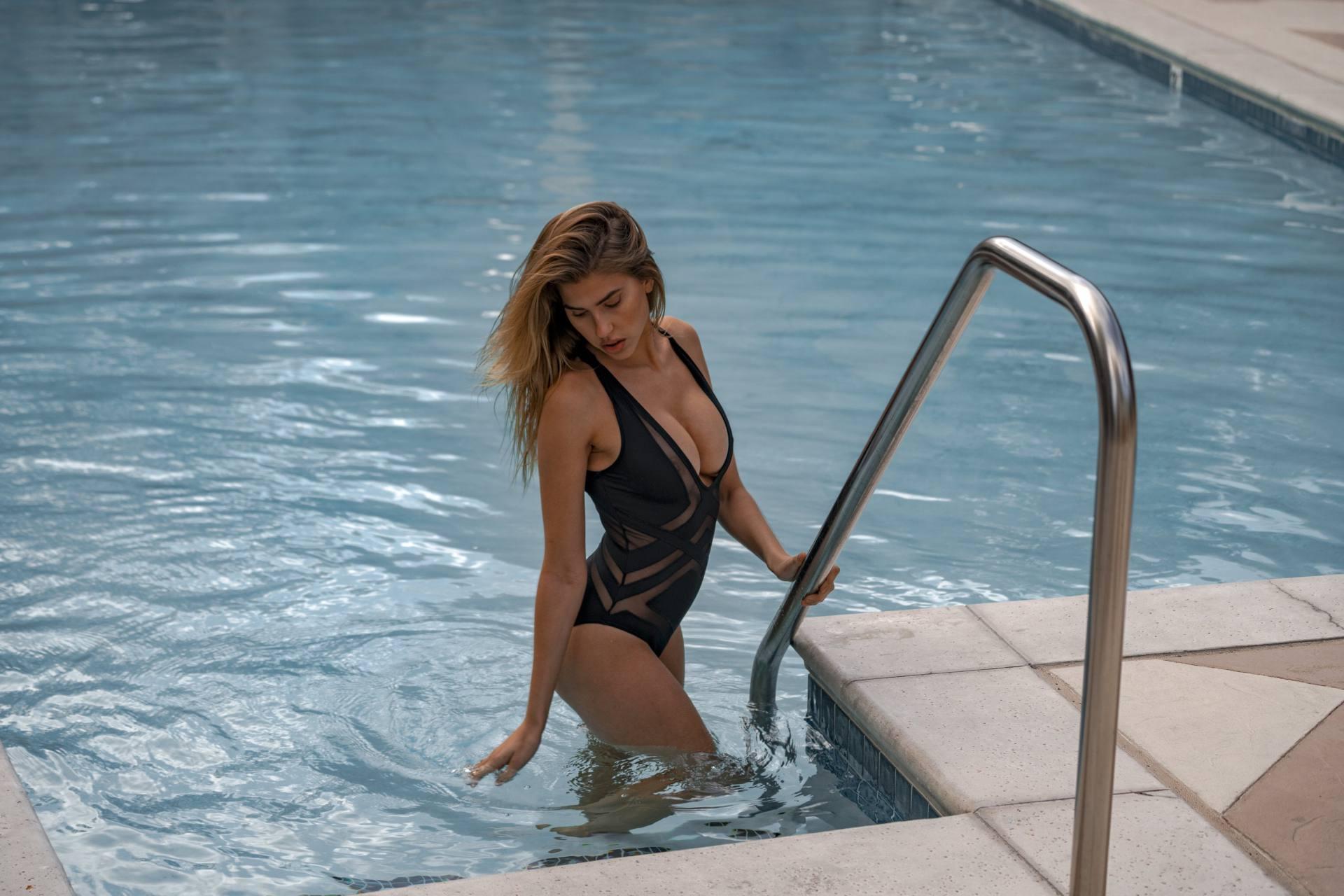 Kara Del Toro Sexy See Through Swimsuit