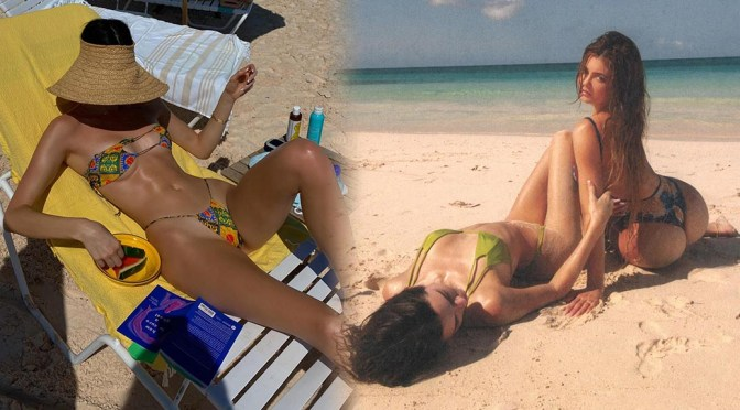 Kendall Jenner – Hot Body in Tiny Bikini Photoshoot