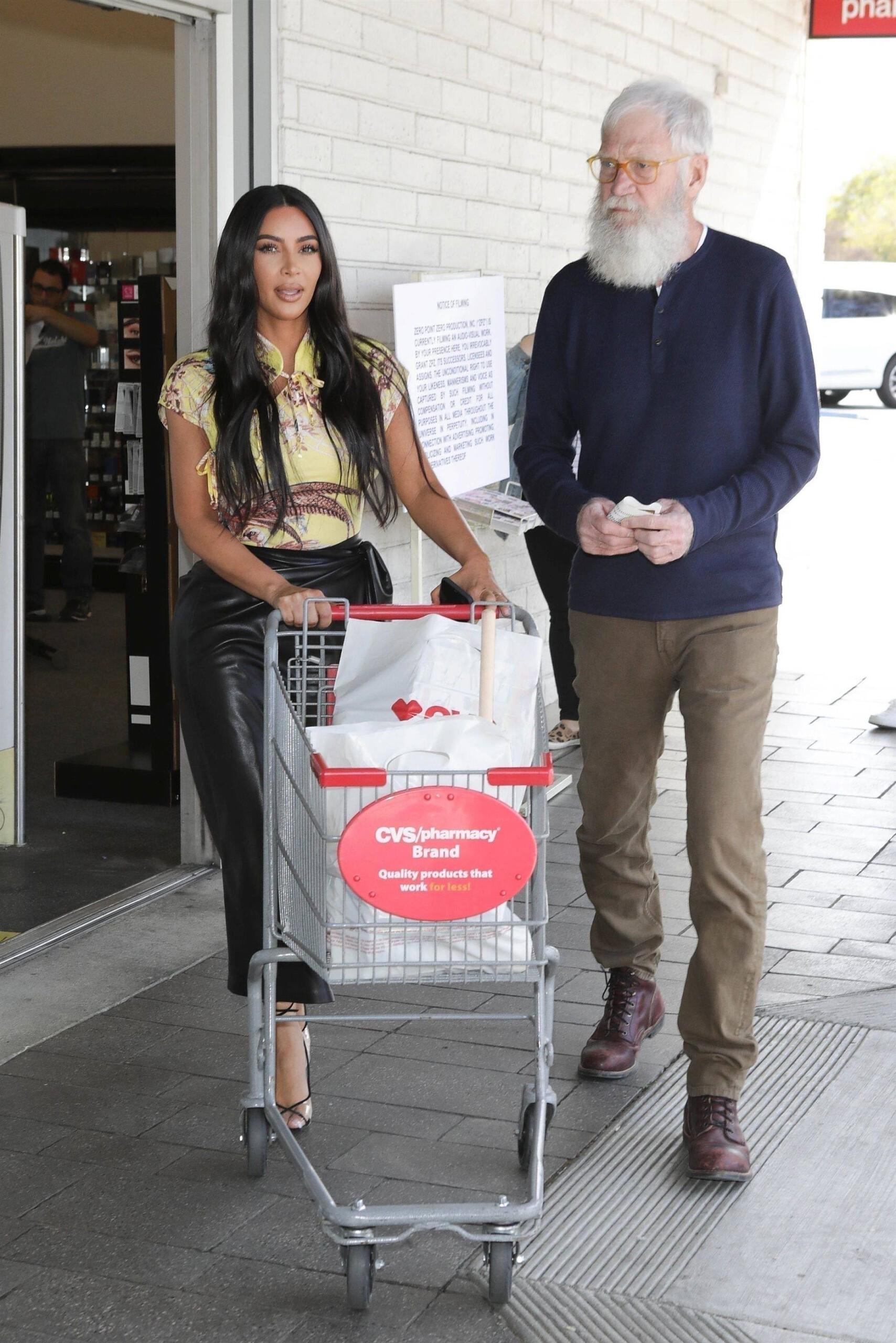 Kim Kardashian Bi Ass In Leather Skirt