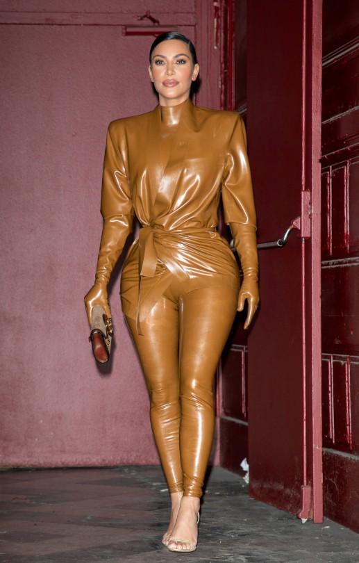 Kim Kardashian Sexy Latex