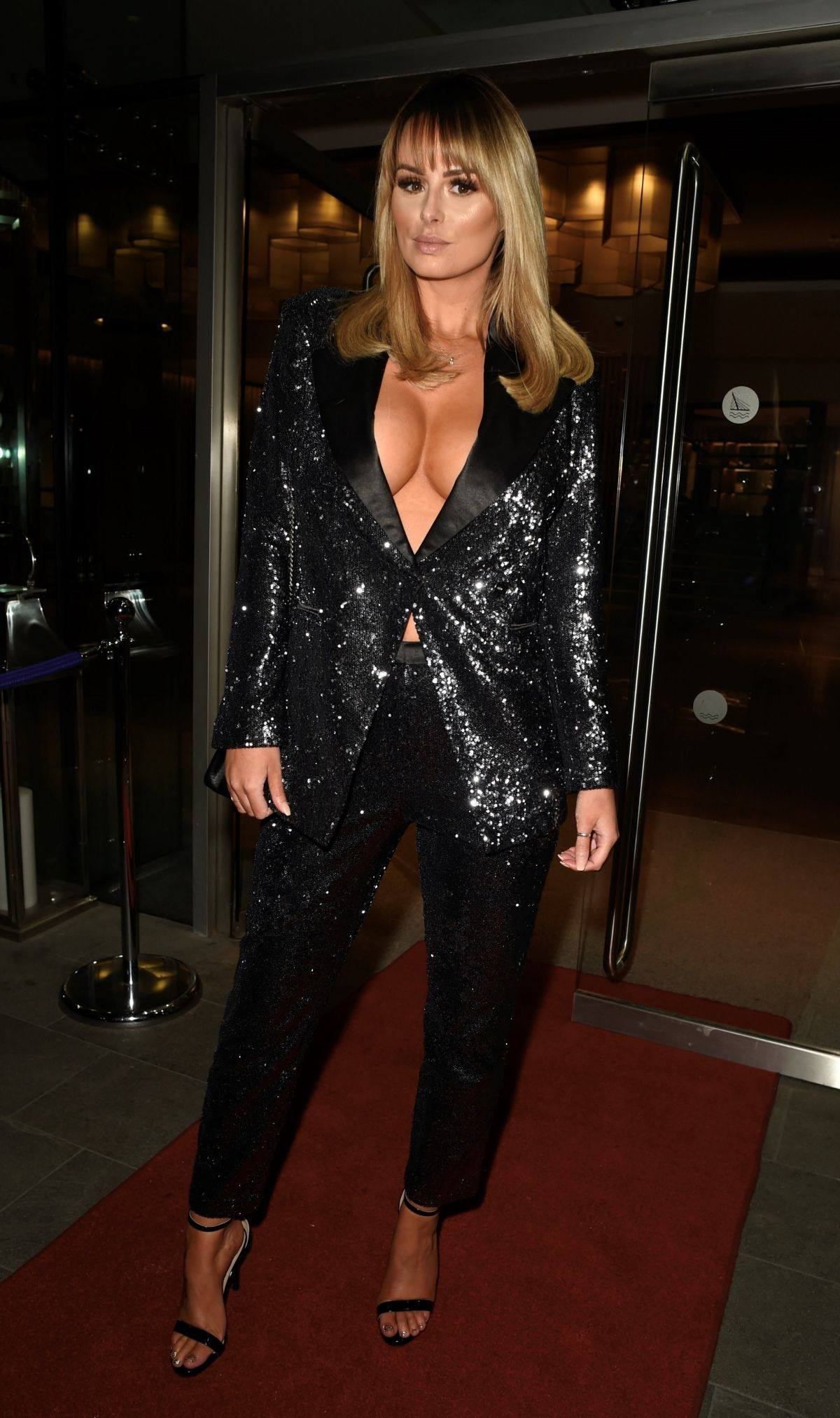 Rhian Sugden - Big Braless Cleavage at Mirror Ball at in