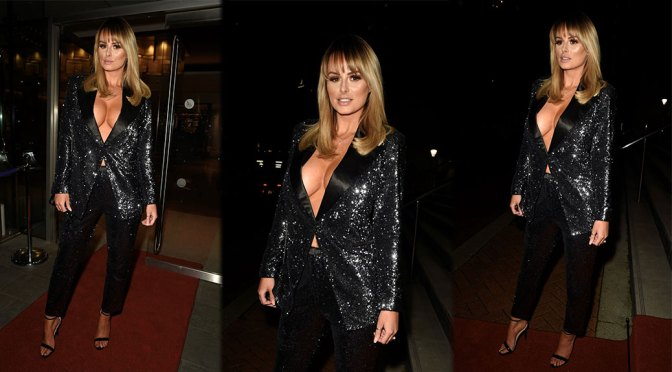 Rhian Sugden – Big Braless Cleavage at Mirror Ball at in Manchester