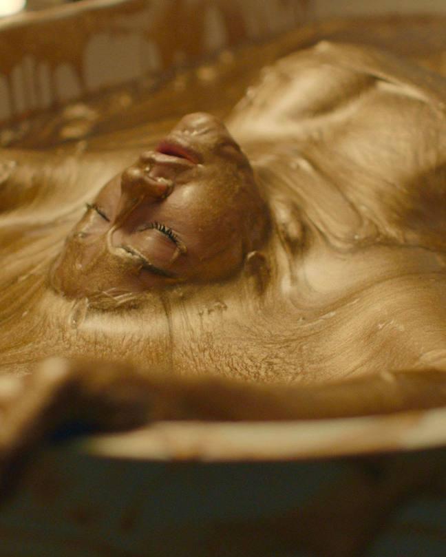 Rita Ora Boobs In Gold