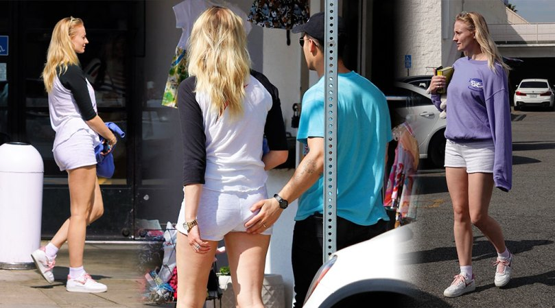 Sophie Turner Hot Legs And Ass In Shorts