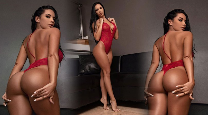 Yesy Naya Sexy Big Ass And Boobs In Red Lingerie