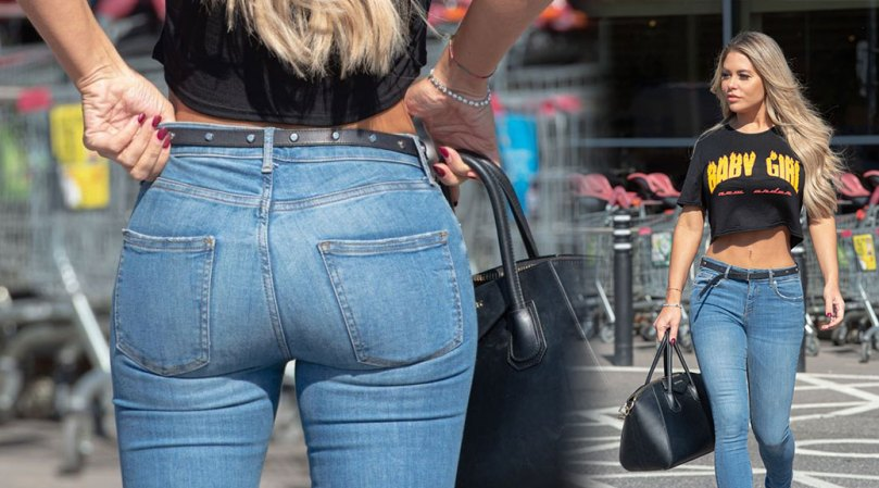 Bianca Gascoigne Weats Tight Jeans