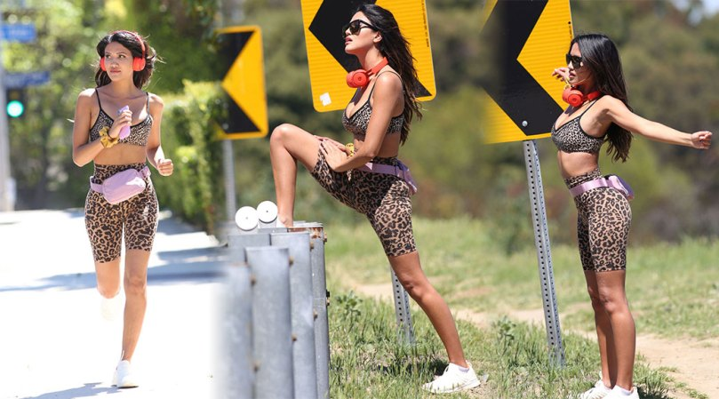 Celisa Franco Sexy In Tight Leggins And Sports Bra